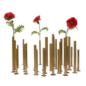 Brass tube flower holders