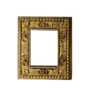 1900 Carved gilt wood mirror