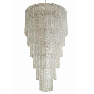 Large and long Murano ceiling light