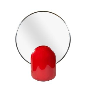 IL Picchio Red base table top mirror with a light