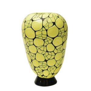 Vittorio Ferro blown yellow and green glass vase