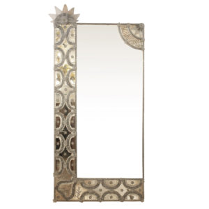 1940s Silver colour Venetian Mirror