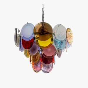 Multicolour vistosi disc ceiling light