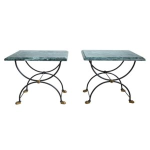 Green Marble Top Side Tables