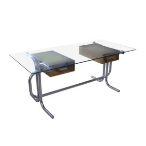 1970s Metal and glass desk