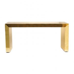 Gold brass console table by Railis Kotlevs