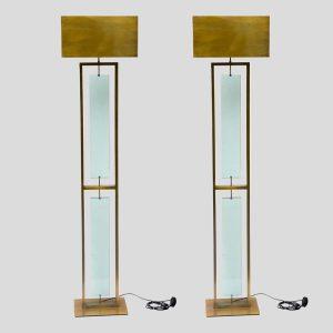 Pair of 1980s fontana Arte style floor lamps