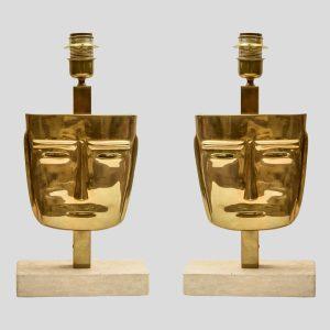 face sculpture table lamps