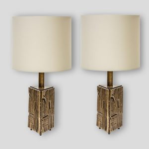 Pair of table lamps triangular Prizm