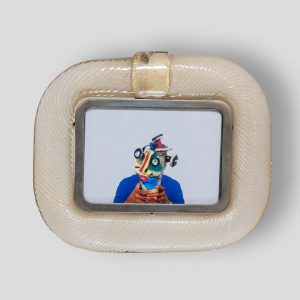 Hand blown glass picture frame by Tommaso barbi