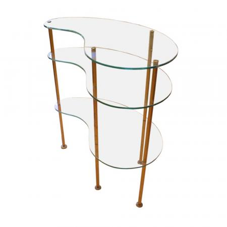 kidney shaped table