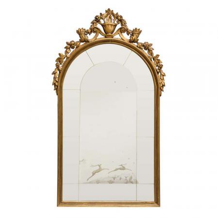 1927 Italian carved mirror