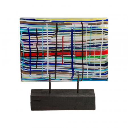 Leonardo Cimolin glass sculpture