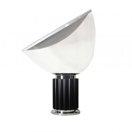 Taccia lamp, black and chrome base