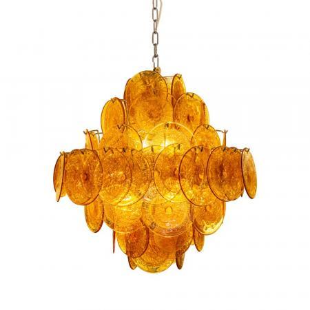 amber disc Vistosi chandelier