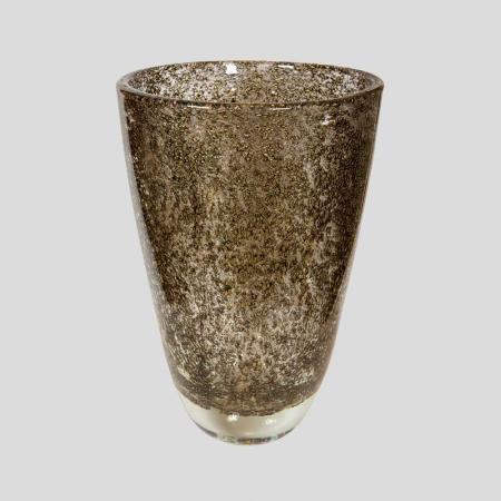 Albert Dona brass inclusion glass vase